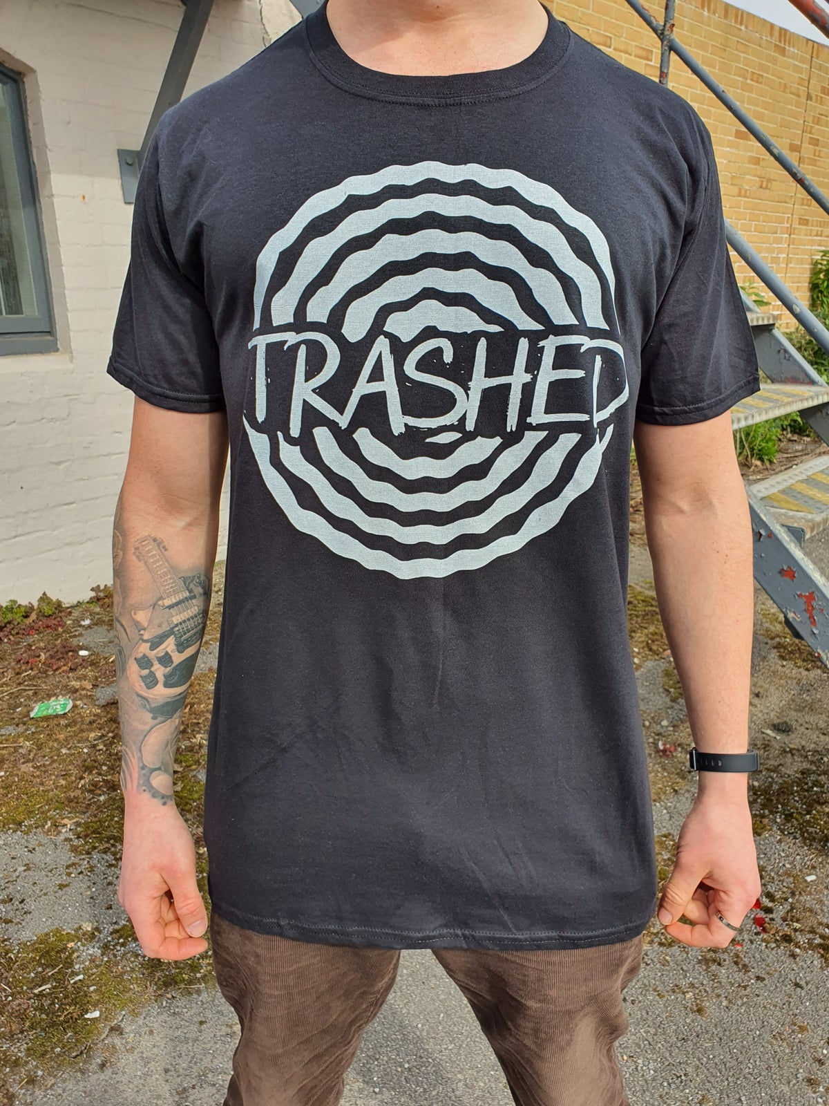Image of TRASHED SPIRAL LOGO TEE