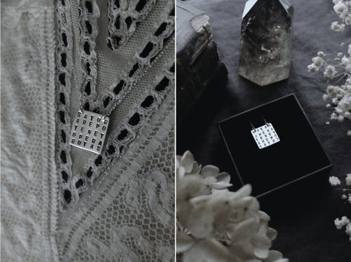 Image of SATOR x ROTAS AMULET ↟ sustainable sterling silver - Magic Square - symbol of protection