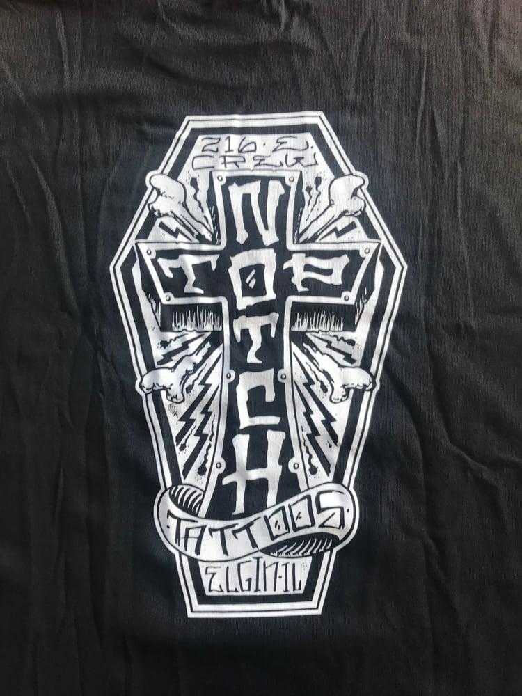 Image of Coffin logo tee