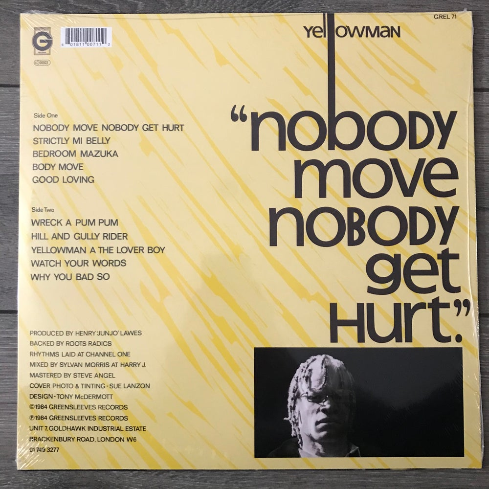 Image of Yellowman - Nobody Move Nobody Get Hurt Vinyl LP