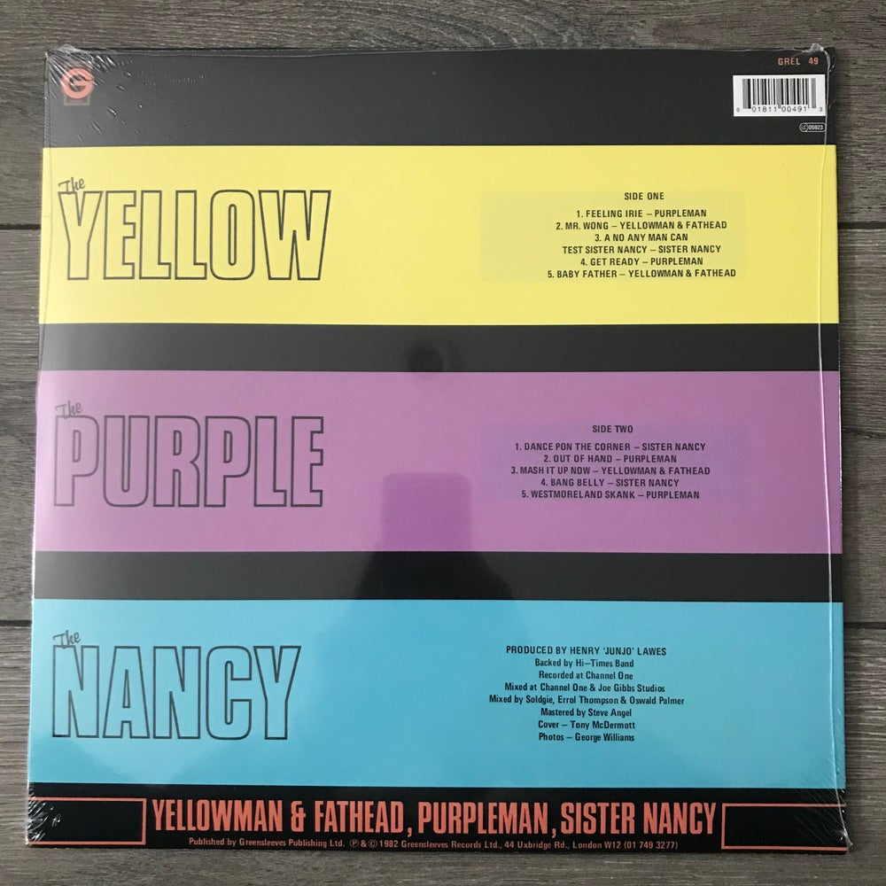 Image of Yellowman & Fathead, Purpleman, Sister Nancy - The Yellow The Purple The Nancy Vinyl LP