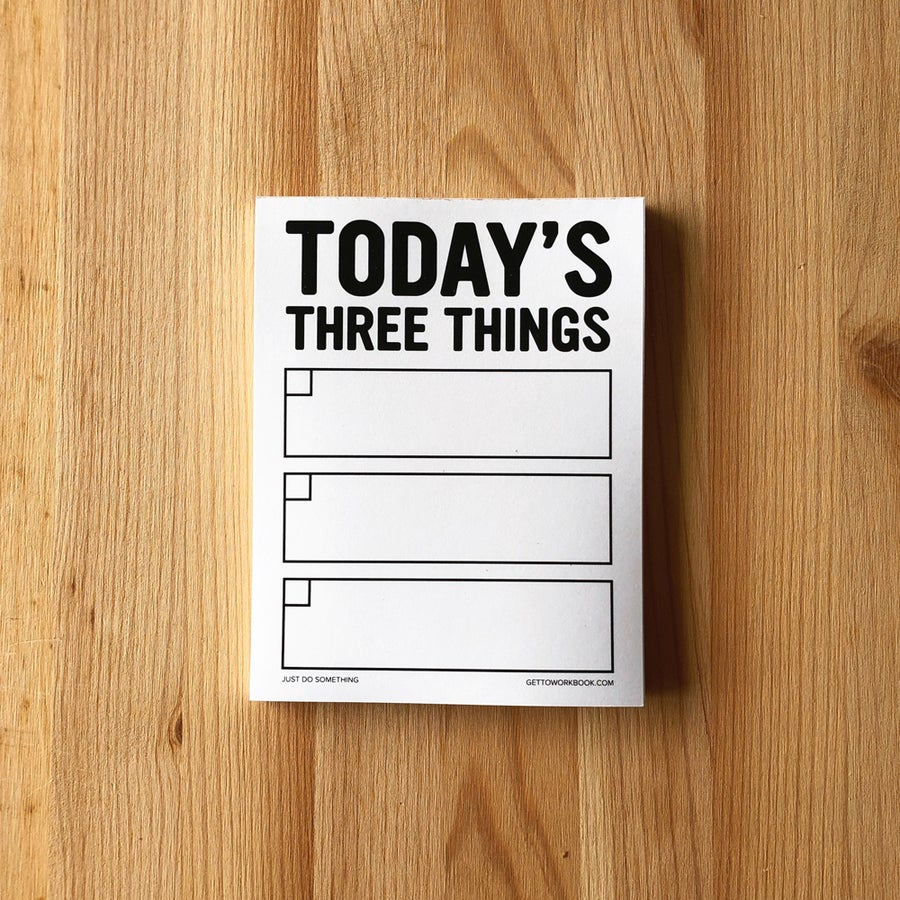 Image of THREE THINGS NOTEPAD