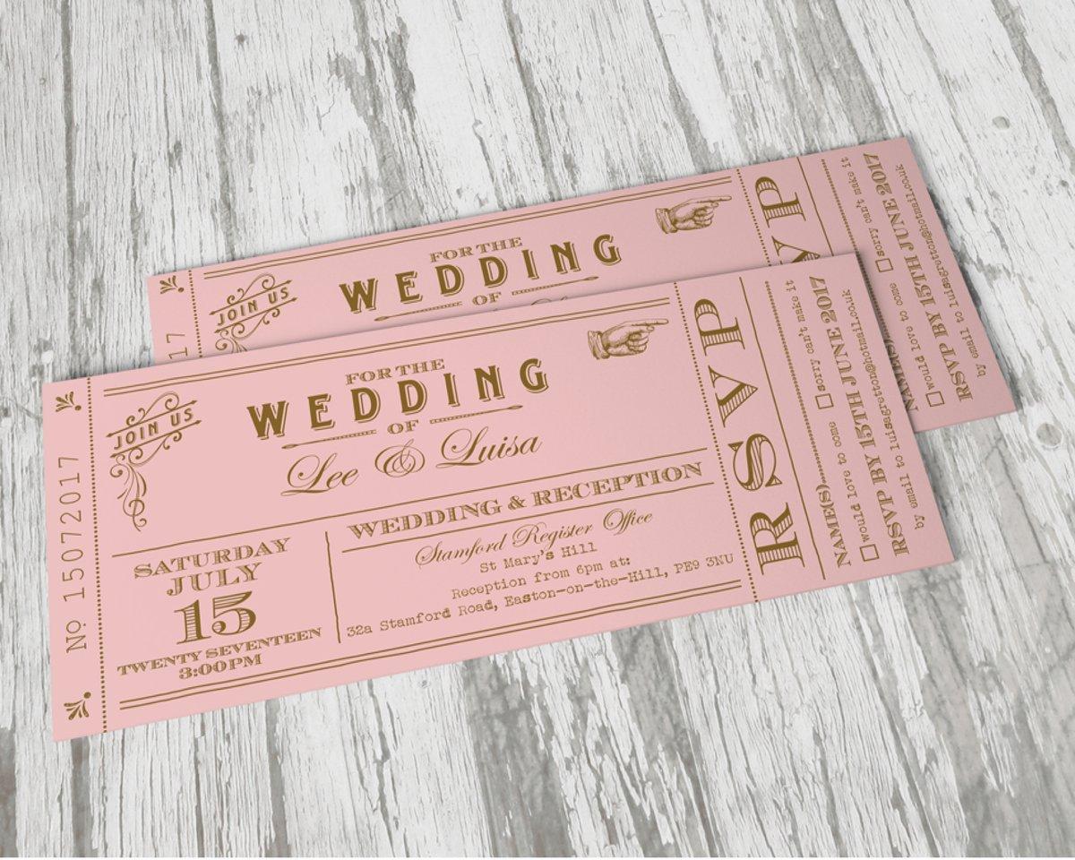 Vintage Pink Ticket