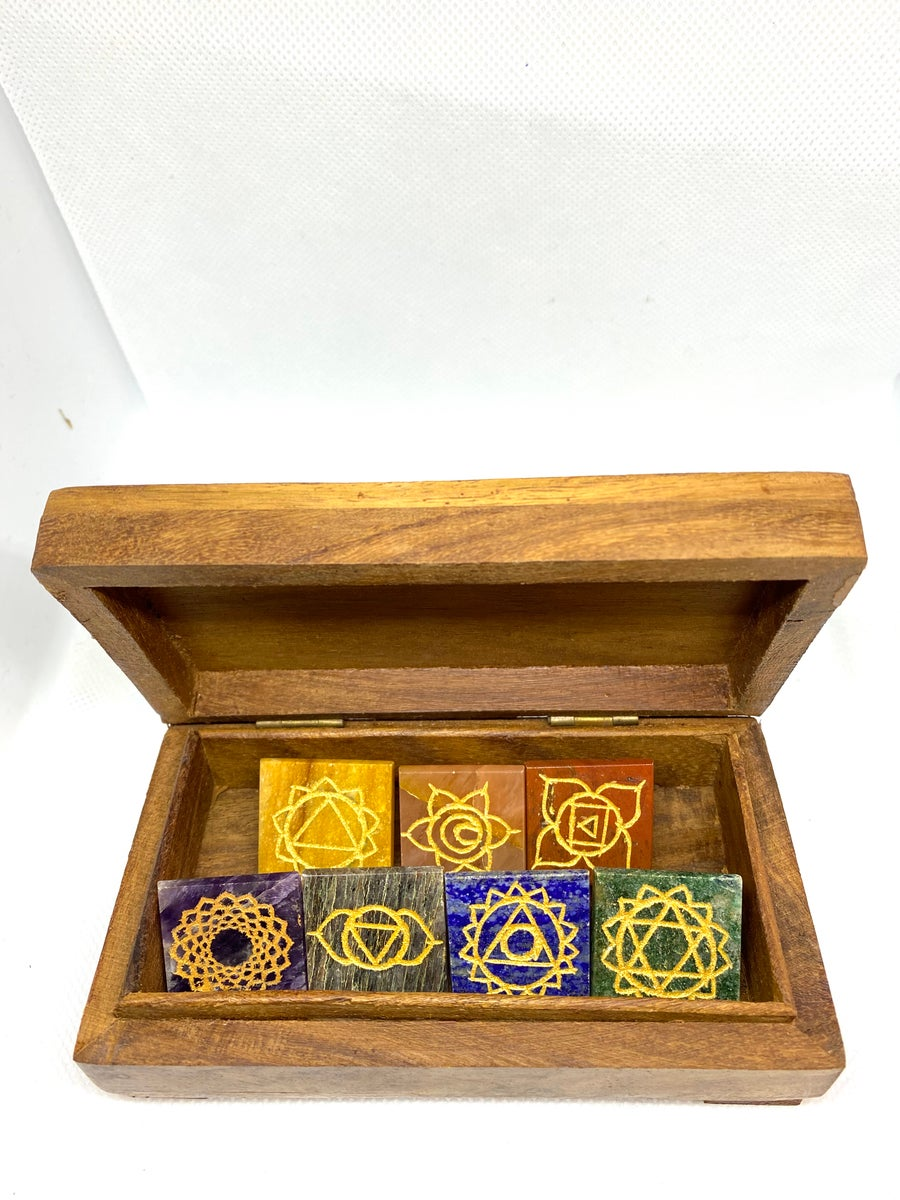 Image of 7 chakra pyramid with box