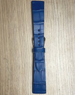 Image of Blue Alligator vintage cut watch strap
