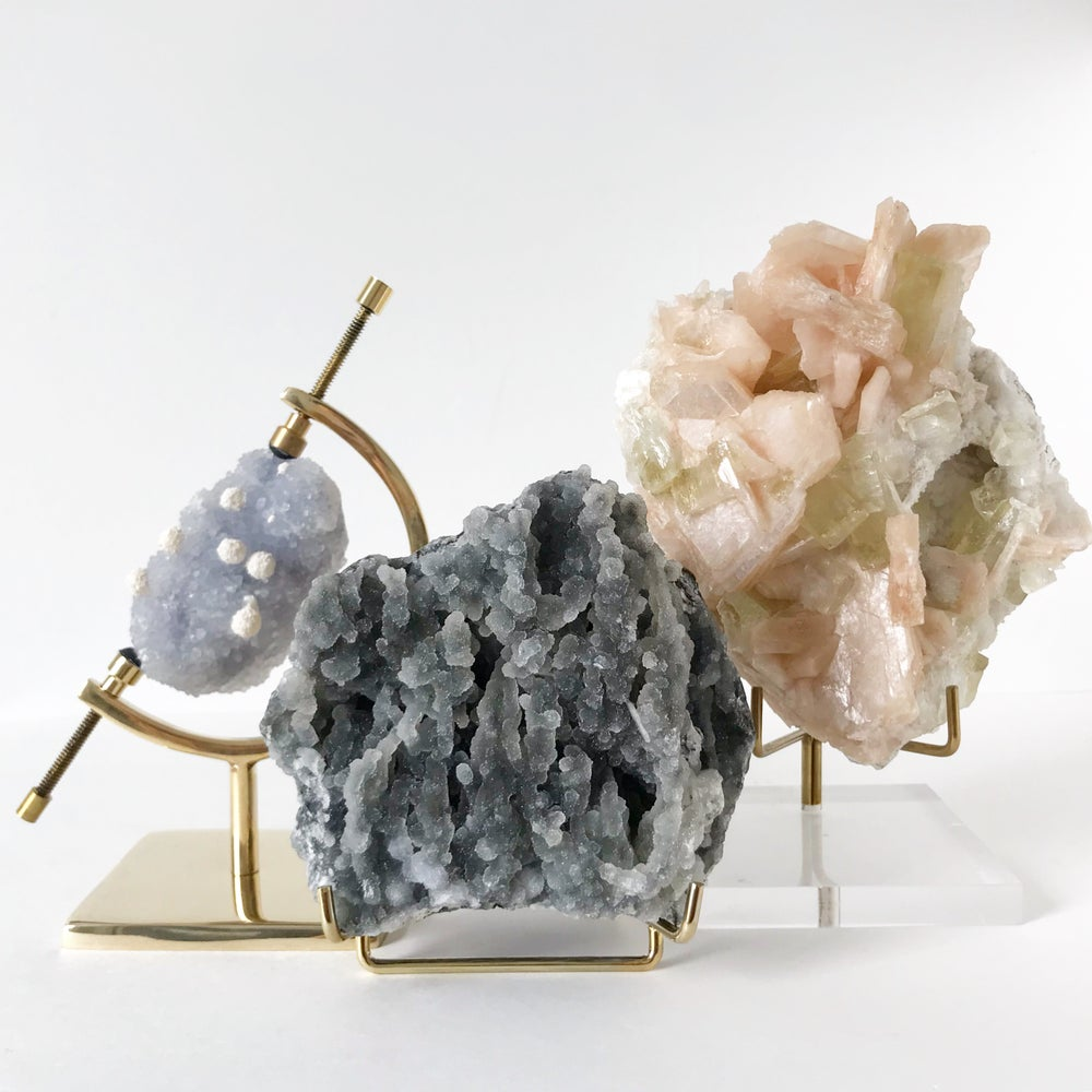 Image of Velvet Chalcedony no.02 + Brass Easel Stand