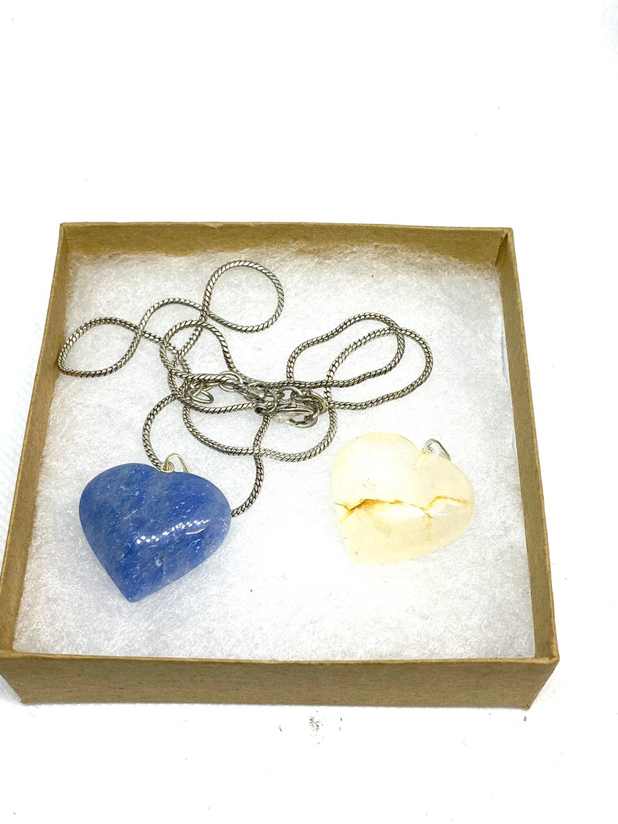 Image of Crystal hearts with chain