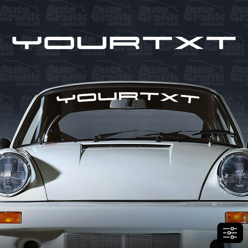 Image of 1973-1998 WINDSCREEN DECAL - VISOR YOUR CUSTOM TEXT