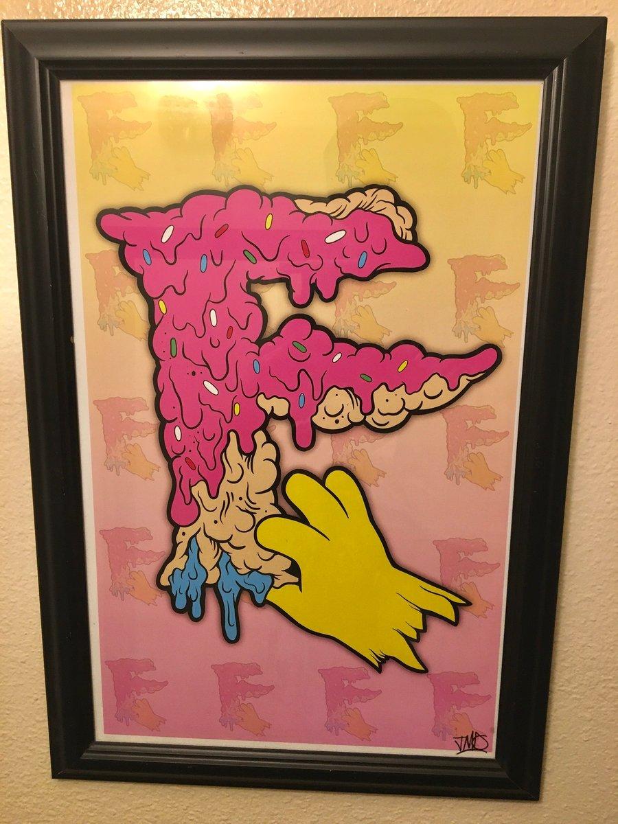 Image of Pink Sprinkle logo print