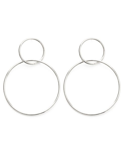 Image of Amano Silver Double Ring Hoop Earrings