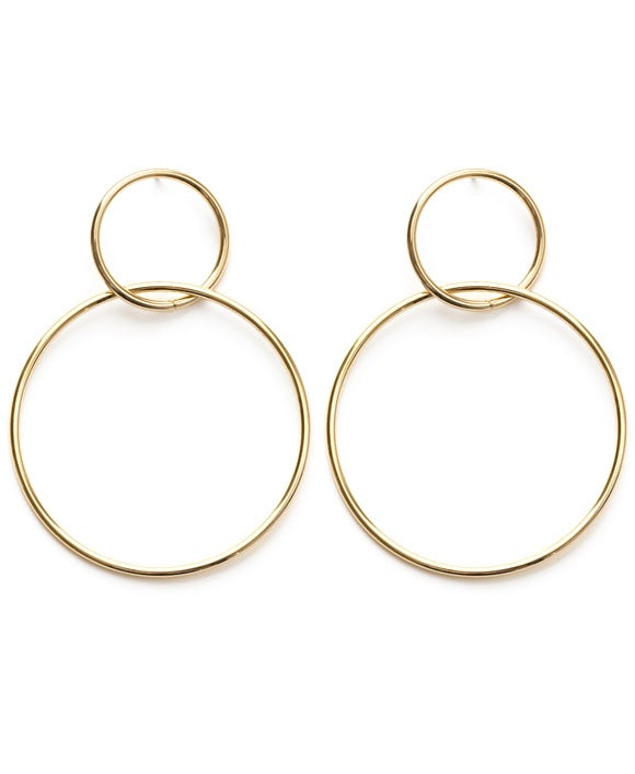 Image of Amano Gold Double Ring Earrings