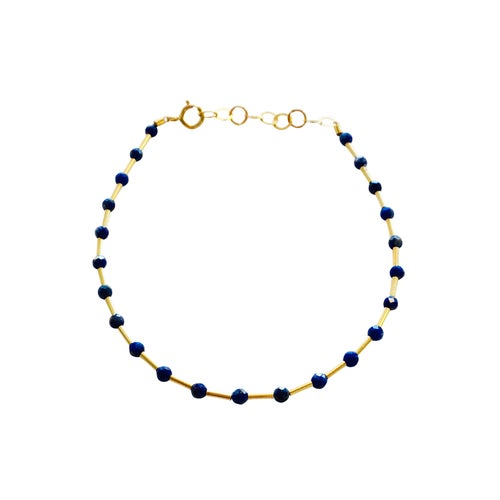 Image of Gold Filled Station Variety Gemstone Bracelet