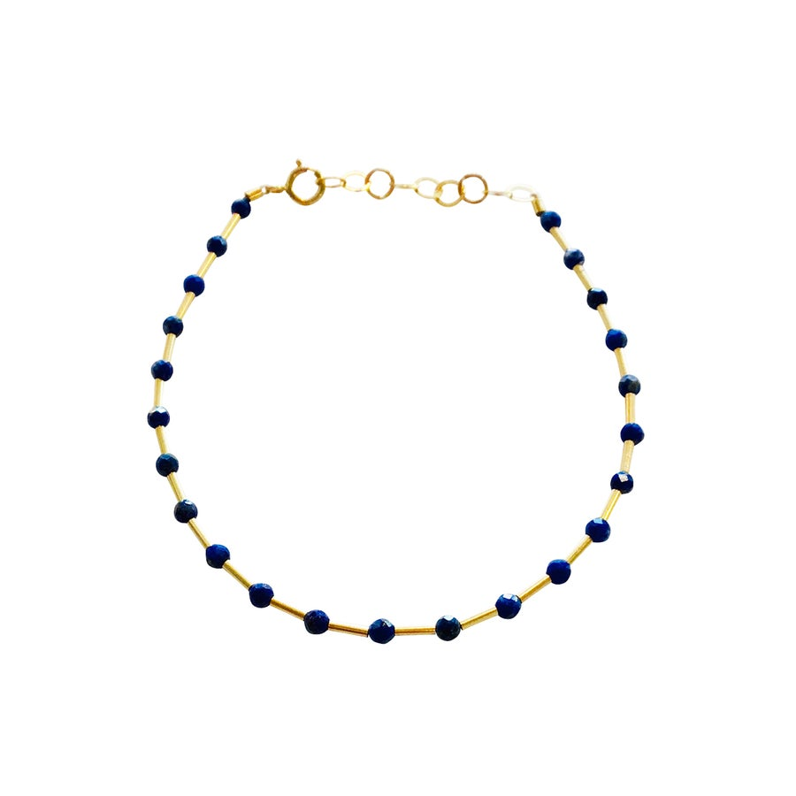 Image of Gold Filled Station Variety Gemstone Bracelet
