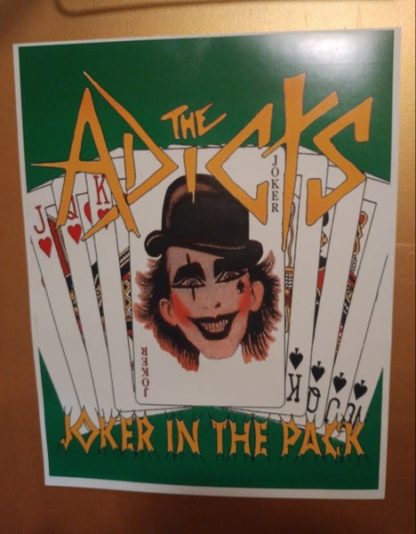 Image of Adicts joker color poster 22x28