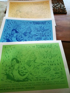 Image of Hand-pulled silk screen gig poster: The Tonga Hut