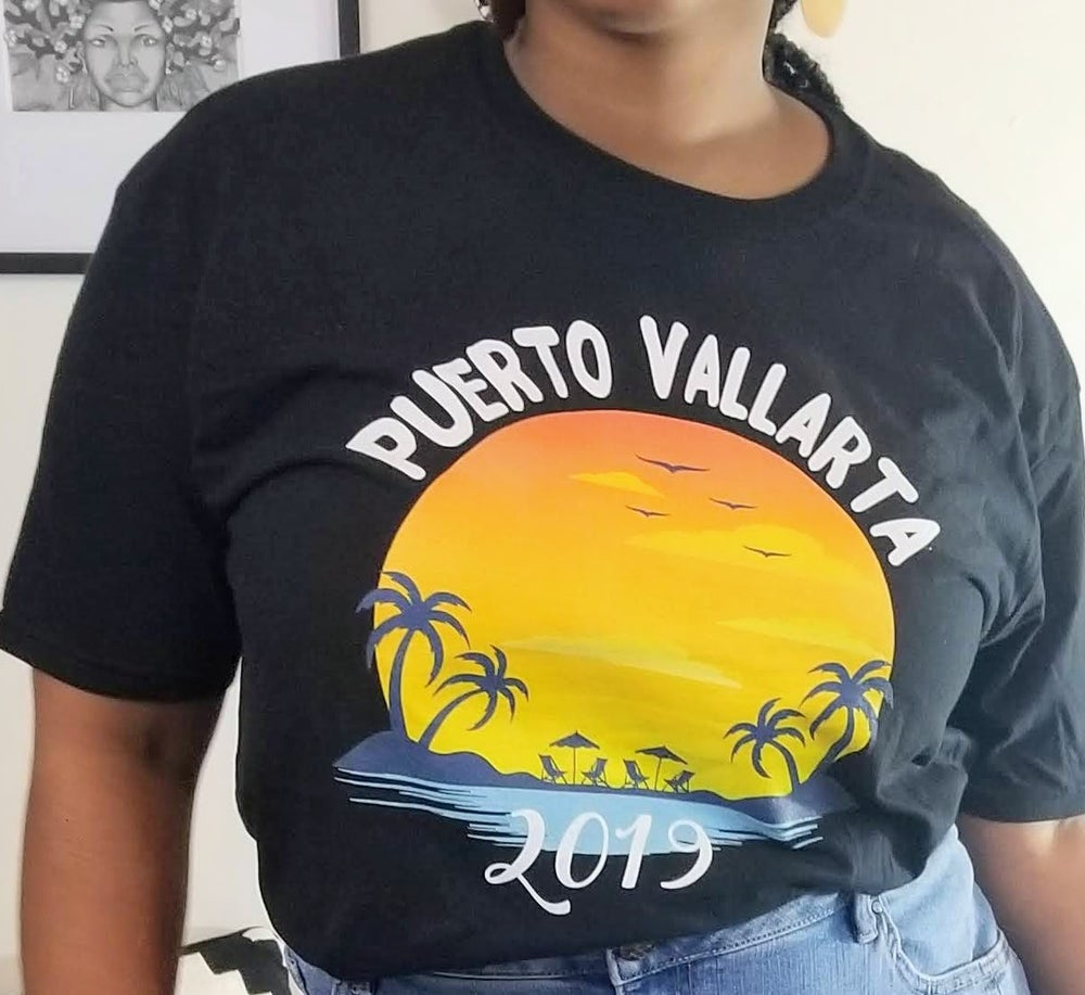 Image of Puerto Vallarta Travel Graphic Print XL/Women's Plus Size