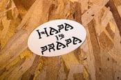 "Image of ""Hapa is Prapa"" White Sticker"