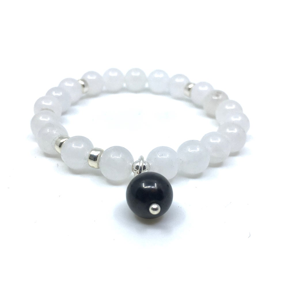 Image of New! Snow Quartz Wrist Mala