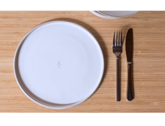 Image of Dinner Plate in White Frost