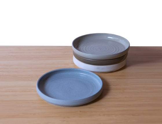 Image of  Flat bowl in Winter Blue