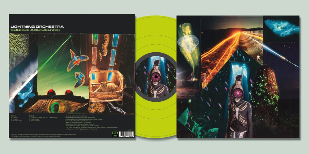 Image of Lightning Orchestra - Source and Deliver (Neon Yellow LP)