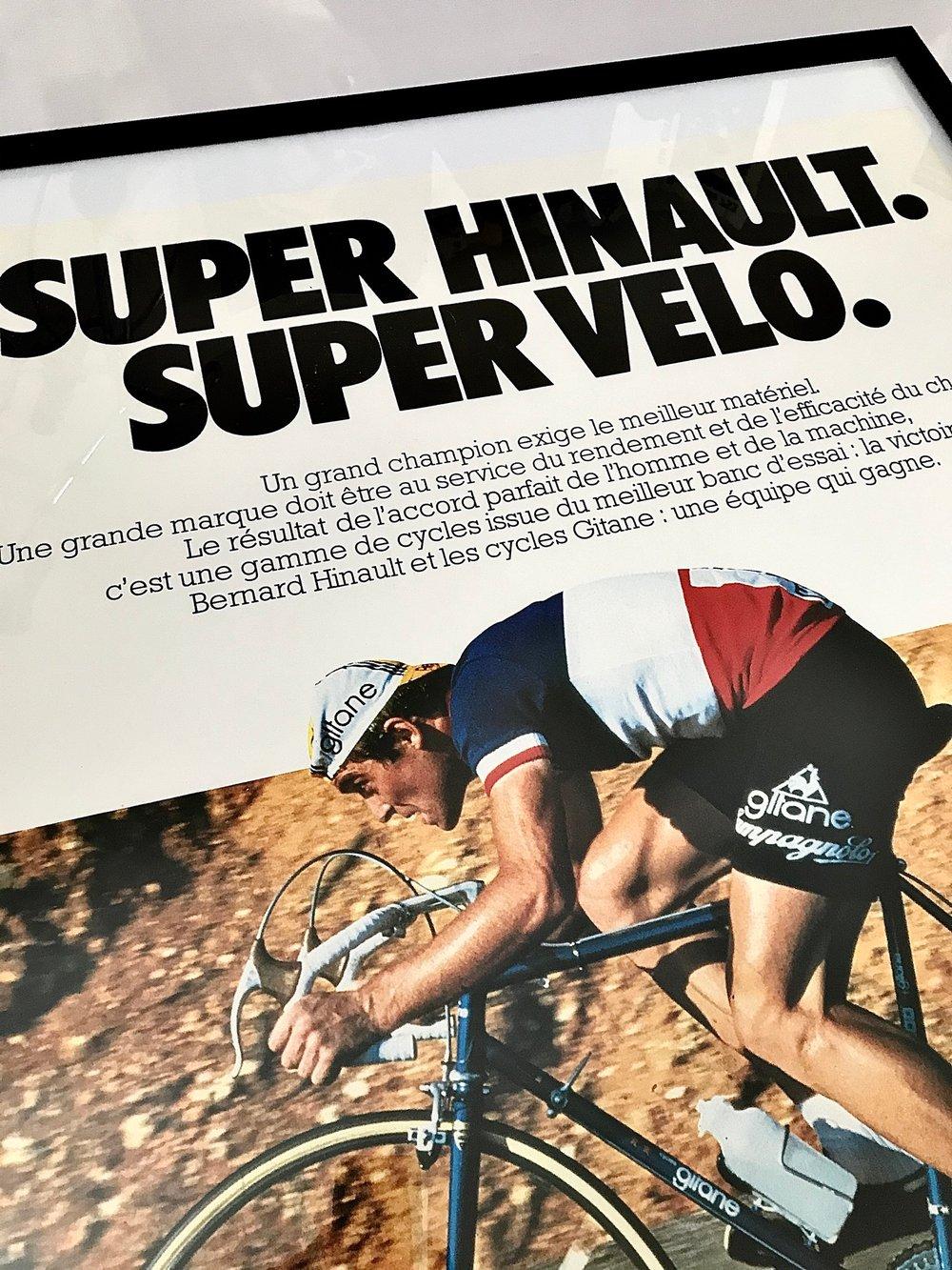 1978 Cycles Gitane Bernard Hinault Poster