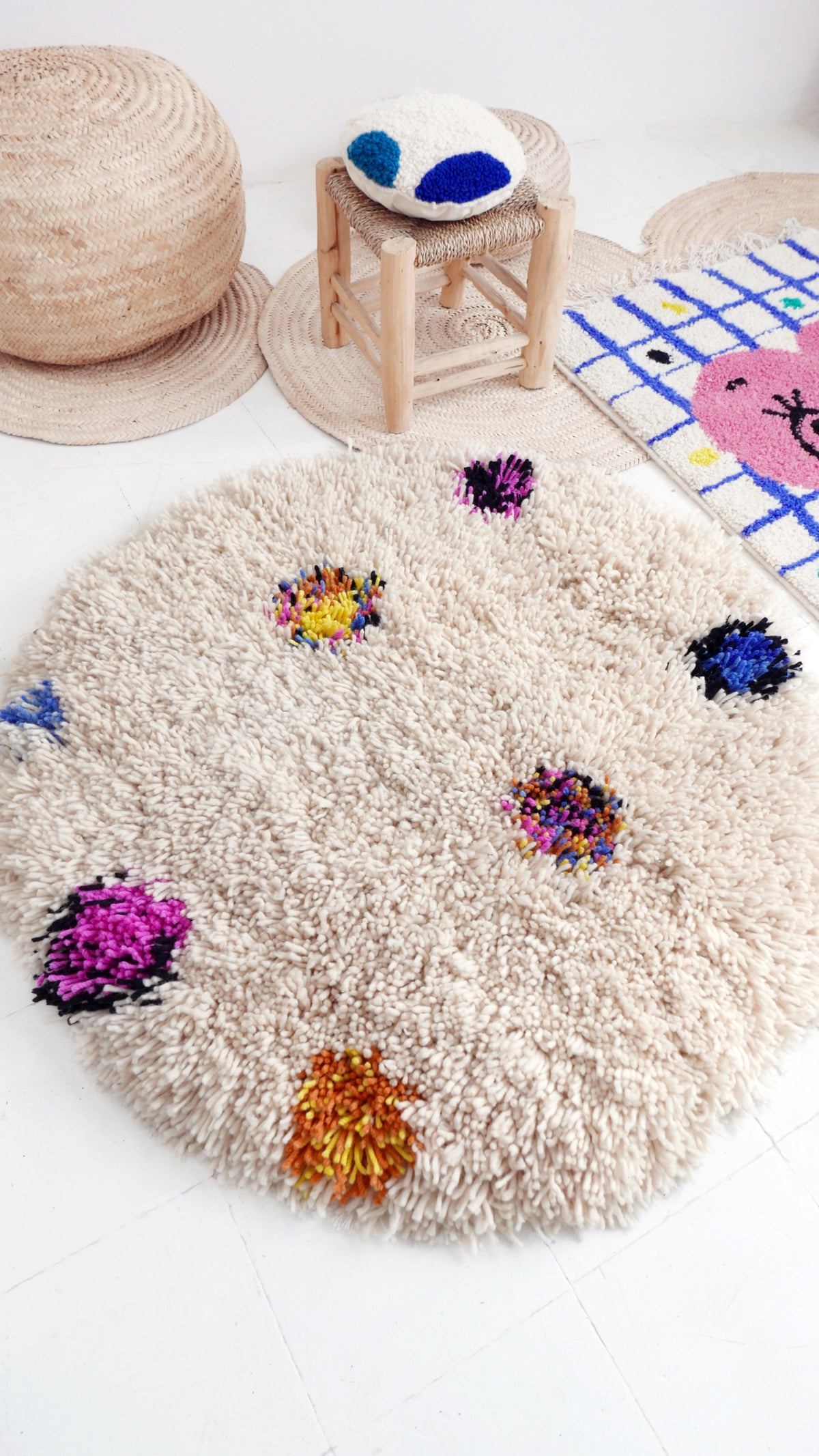 Image of Wool Rug for Kids - Round RUUUGS Mix Colors