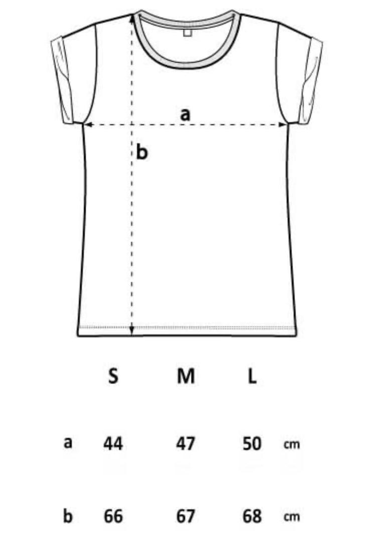 Image of LOKAH SAMASTAH SUKHINO BHAVANTU – pale pink – t-shirt w/ rolled-up sleeves
