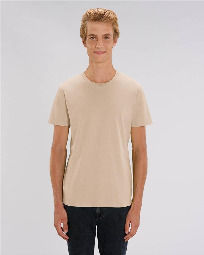 Image of OM GAM GANAPATHI – lilac/orange – beige unisex t-shirt