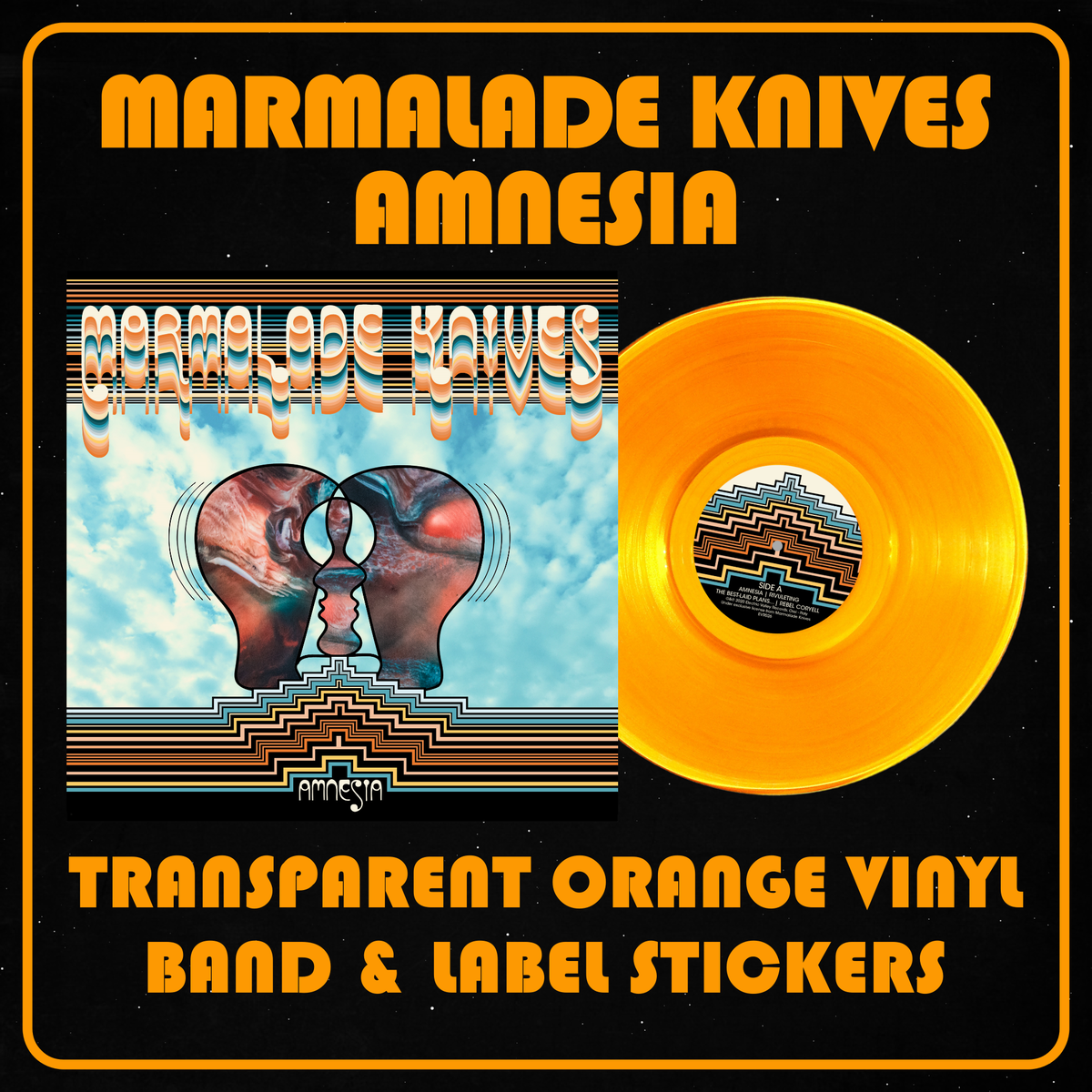 Image of Marmalade Knives - Amnesia Transparent Orange Vinyl