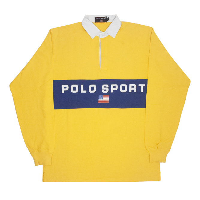 Image of Polo Sport Ralph Lauren Rugby Shirt Big Logo Spell Out Size M