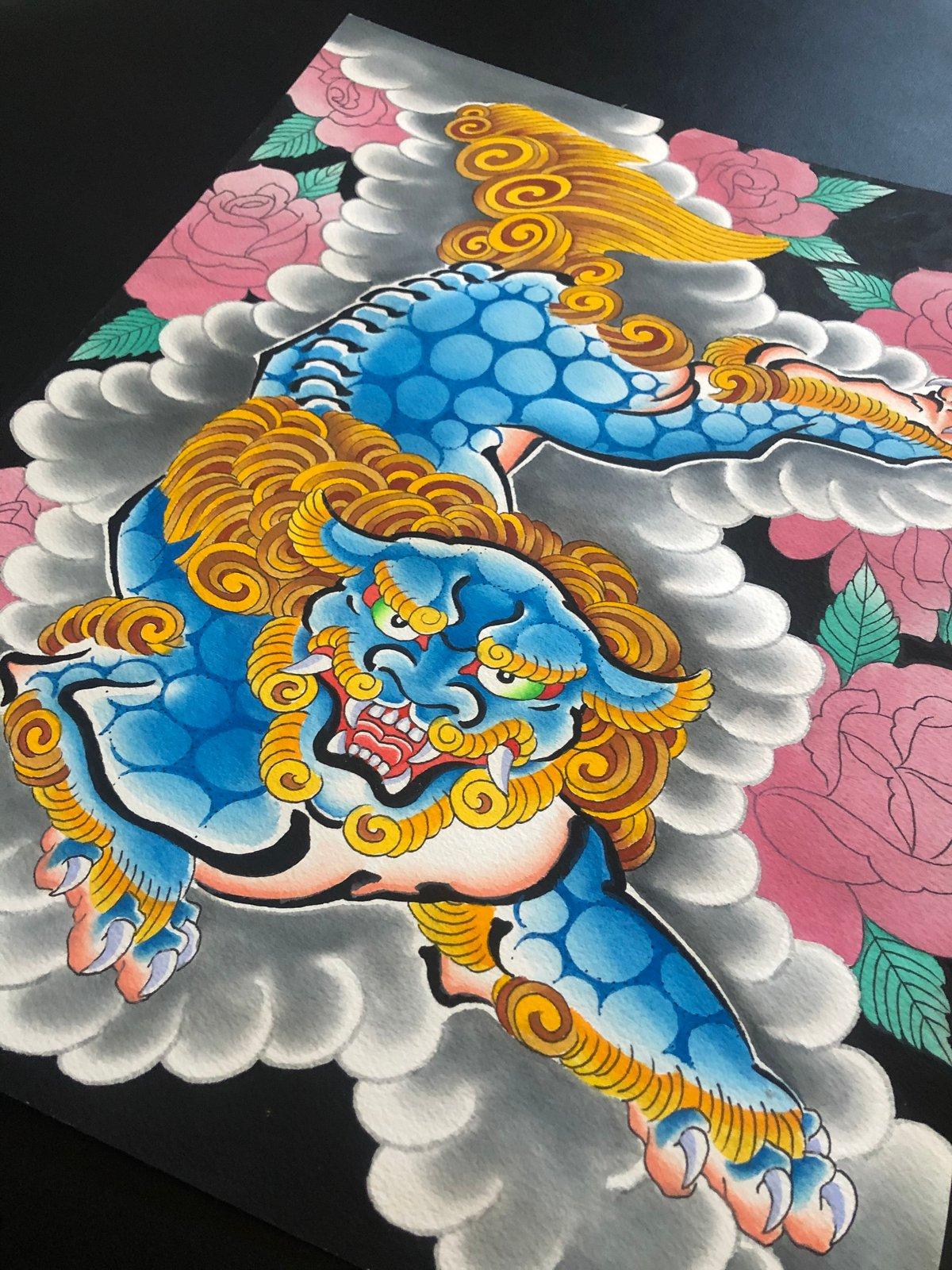 Shi Shi and Roses