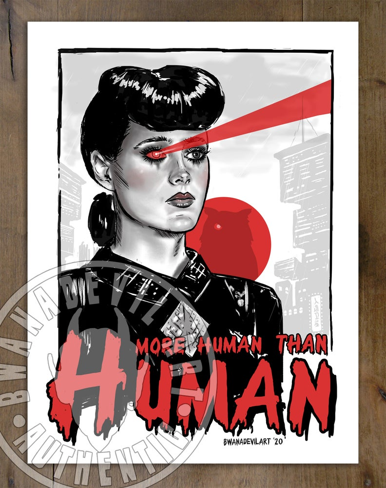 Image of Rachael from Blade Runner (More human than human)Art Print 9 x 12 in.