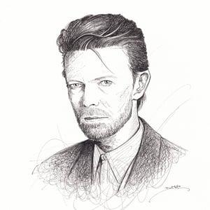 Image of David Bowie Doodle