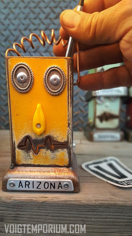 Image of Robot desk organizer/Large: Orange Pencil Pusher