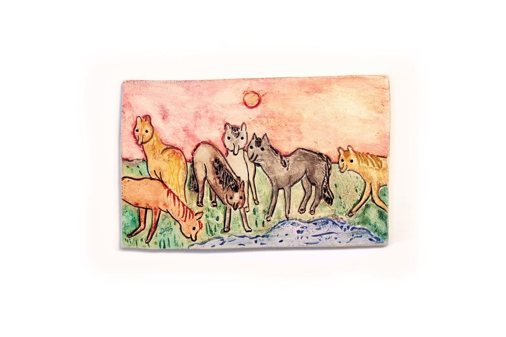 Image of 'Wild Horses' Ceramic Tile