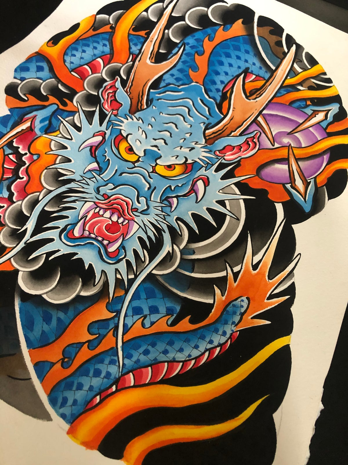 Blue Dragon Half Sleeve