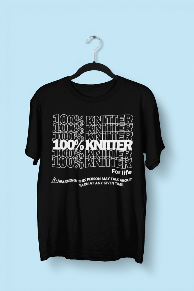 Image of 100% Knitter for Life - Black