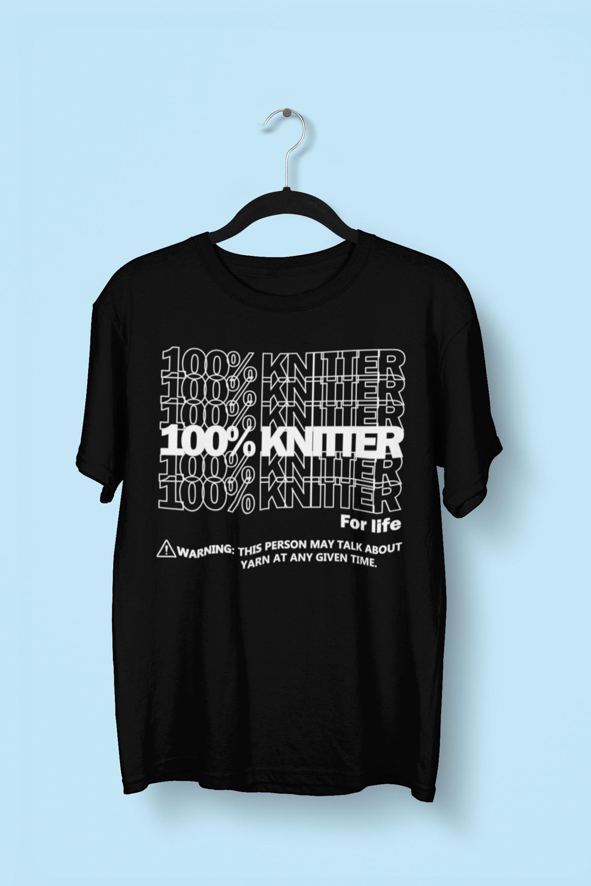 Image of 100% Knitter for Life - Black