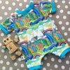 Shortie Romper With Leg Poppers