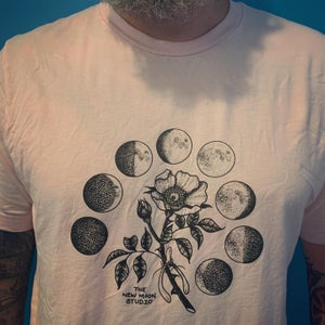 Image of Pale Pink New moon studio t shirt