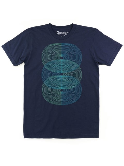 Image of Double S-Curve Men's Tee (Navy)