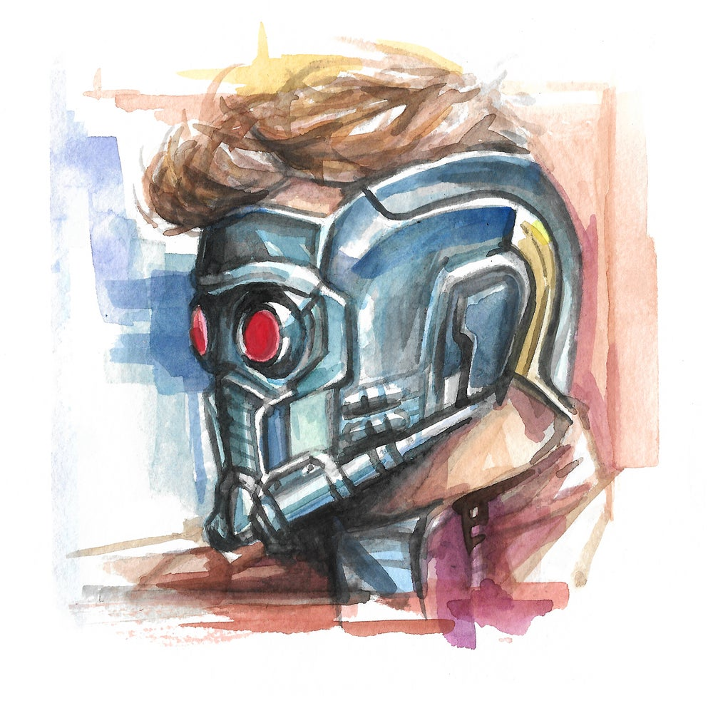 Image of Star Lord - Watercolor Print