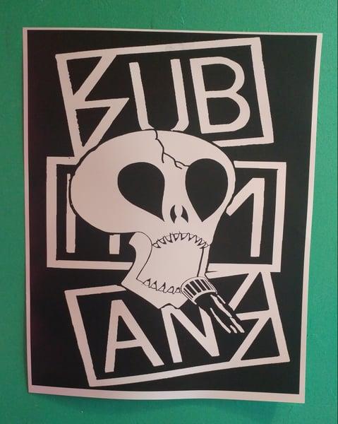 Image of Subhumans skull poster 22x28