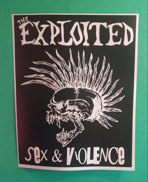 Image of Exploited sex and violence poster 22x28
