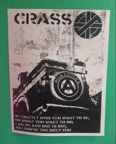 Image of Crass big A little a poster 22x28