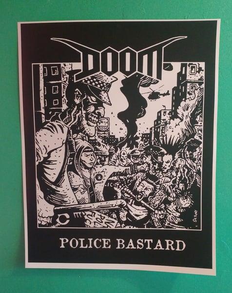 Image of Doom police bastard poster 22x28