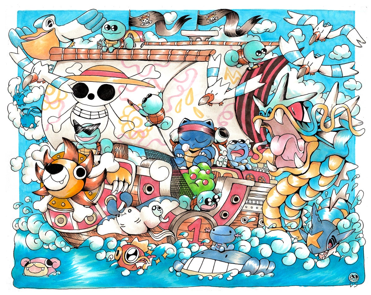 Image of Squirtle Squad X Thousand Sunny Poster