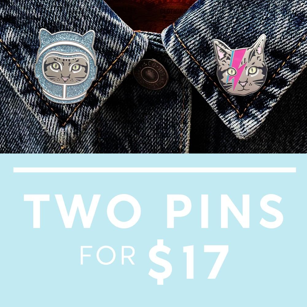 Image of Mix and Match Enamel Pin Deal - Pick 2 Pin Bundle
