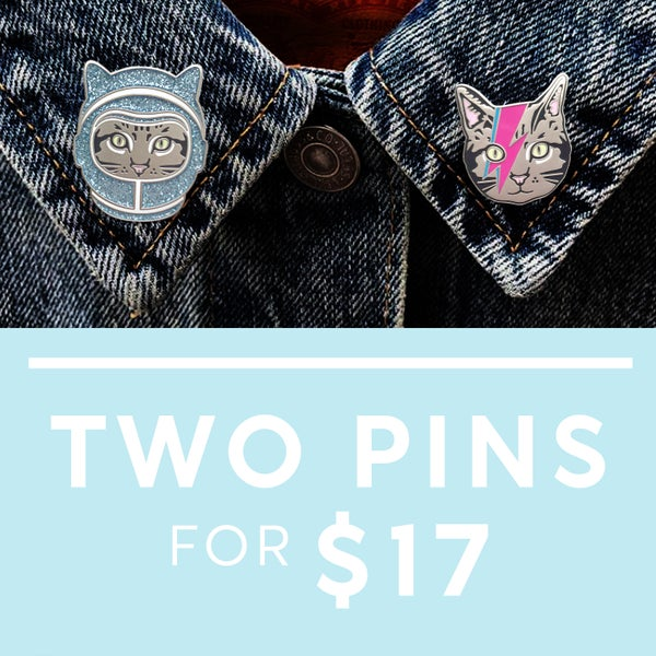 Image of Mix and Match Enamel Pin Deal - Pick 2 Pin Bundle